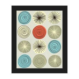 Circle Explosion Framed Canvas Wall Art Print