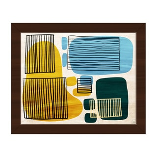 Squares and Chairs Framed Canvas Wall Art Print