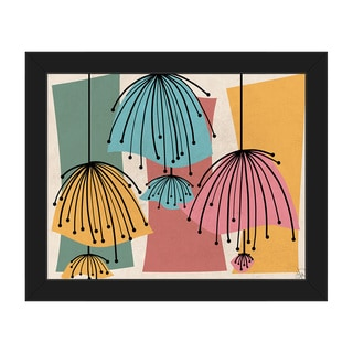 Lazy Lamps Framed Canvas Wall Art Print