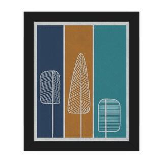 Flat Amber Pine Framed Canvas Wall Art Print