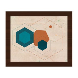 Cerulean Core Framed Canvas Wall Art Print