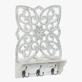 Sorrento Antique White Wall Organizer