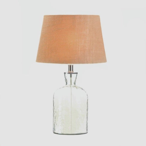 Tomball Textured Clear Glass Table Lamp