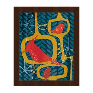 Resting Birds Framed Canvas Wall Art Print