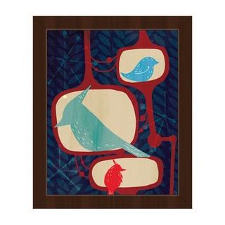 Famous Birds Framed Canvas Wall Art Print