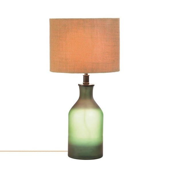 Marvel Two-Tone Green Glass Table Lamp