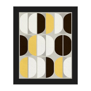 Retro Sequence Yellow Framed Canvas Wall Art Print