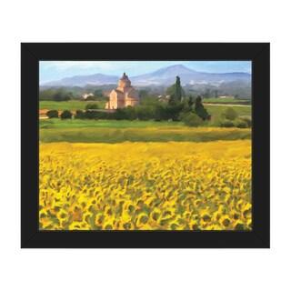 Provence Sunflowers Framed Canvas Wall Art Print