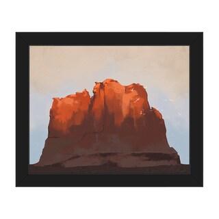 Southwest Sunset Framed Canvas Wall Art Print