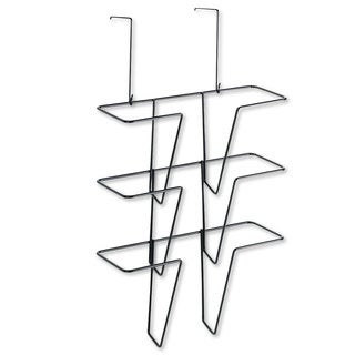 Fellowes Wire Partition Additions Three-Pocket Organizer, 12 5/8 x 23 1/4, Black