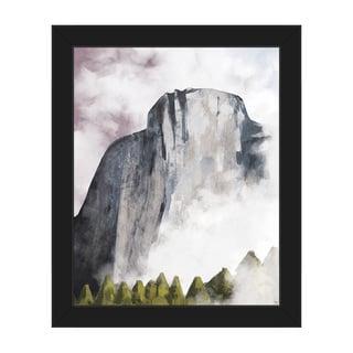 Rock Face Dawn Framed Canvas Wall Art Print