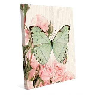 Butterfly & Roses Garden Party Wall Art on Canvas