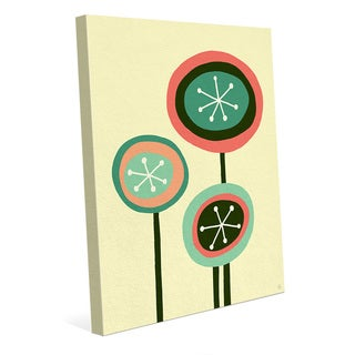 Retro Flowers Springtime Wall Art Print on Canvas