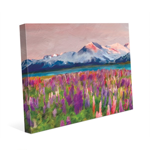 Colorful Wildflowers Wall Art Print on Canvas
