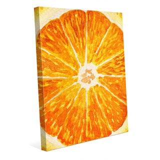 Up Close Orange Wall Art Print on Canvas