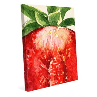 Up Close Strawberry Wall Art Print on Canvas