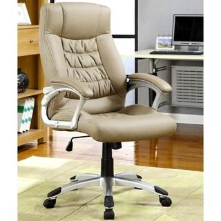 Executive Beige Swivel Adjustable Office Chair