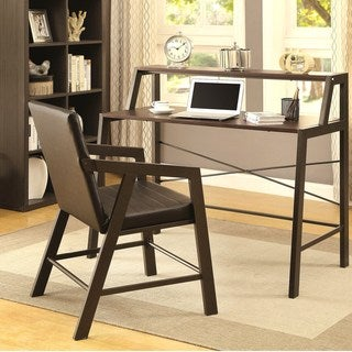 Mid-Century Modern Home Office Writting Desk and Chair Set