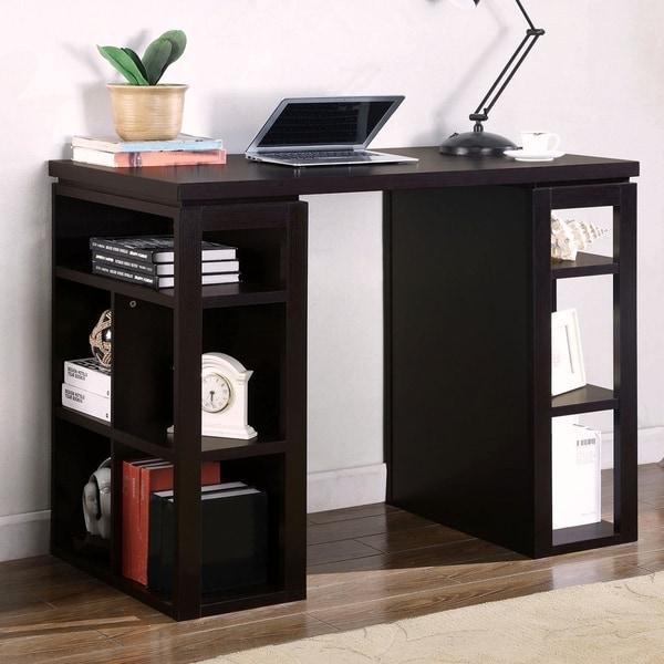 Modern Design 36 Inch Counter Height Work Station Bookcase Writing Desk