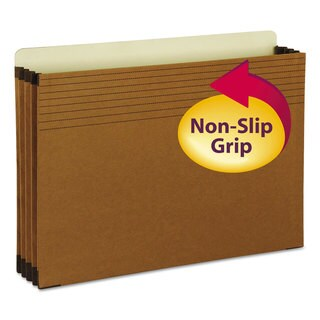 Smead Easy Grip File Pocket Legal File Organizer 3 1/2-inch Exp. Redrope (Box of 25)