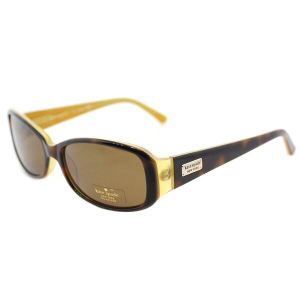 598dccf08beb0 Kate Spade KS Paxton N EE2P Tortoise Saffron Plastic Rectangle Sunglasses