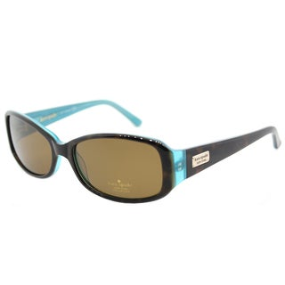 Kate Spade Women's KS Paxton/N JEYP Tortoise Aqua Plastic Rectangle Brown Polarized Lens Sunglasses