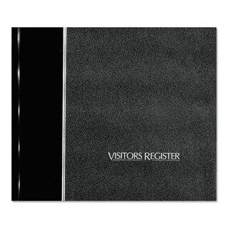 National Visitor Register Book Black Hardcover 128 Pages 8 1/2 x 9 7/8