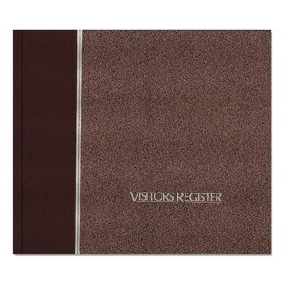 National Visitor Register Book Burgundy Hardcover 128 Pages 8 1/2 x 9 7/8