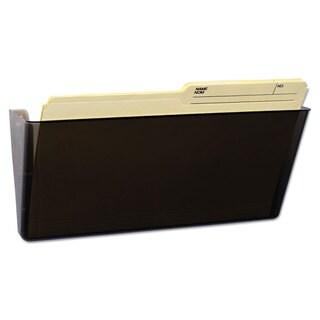 Storex Unbreakable Magnetic Wall File Letter/Legal 16 x 7 Single Pocket Smoke