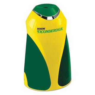 Ticonderoga Personal Electric Pencil Sharpener 3 1/4-inch wide x 2 7/8-inch deep x 7 1/4-inch high Yellow with Green