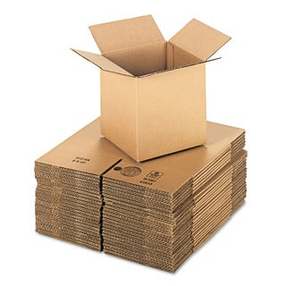General Supply Brown Corrugated - Cubed Fixed-Depth Shipping Boxes 8-inch long x 8-inch wide x 8-inch high 25/Bundle