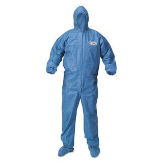 KleenGuard A60 Blood and Chemical Splash Protection 2X-Large Blue Coveralls (Case of 24)