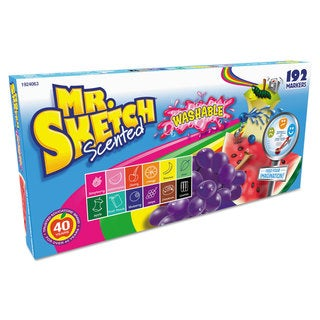 Mr. Sketch Washable Markers Chisel Assorted Colors 192/Set