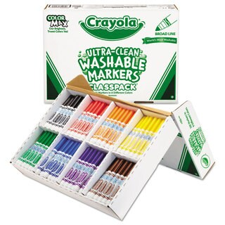 Crayola Washable Classpack Markers Broad Point Assorted 200/Box