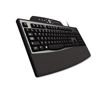 Kensington Pro Fit Comfort Keyboard Internet/Media Keys Wired Black