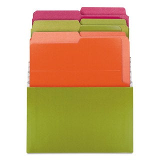 Smead Organized Up Stadium Files with Vertical Folders 3 Pocket Letter Bright Assorted