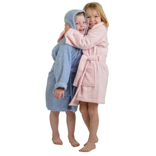 Superior Collection Luxurious Cotton Unisex Kids Hooded Bath Robe Large Size in White (As Is Item)