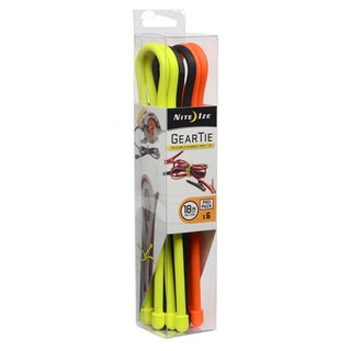 Nite Ize  Gear Tie  18 in. L Black, Bright Orange, Neon Yellow  Twist Ties  6 pk