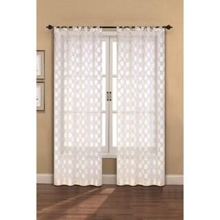 Devine Sheer Window Curtain Panel Pair