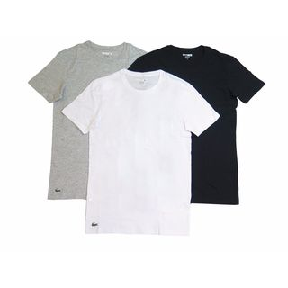 Lacoste Men's Assorted Cotton Crewneck Undershirt (Pack of 3)