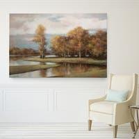 Claude Monet 'Linen Landscape II' Canvas Print