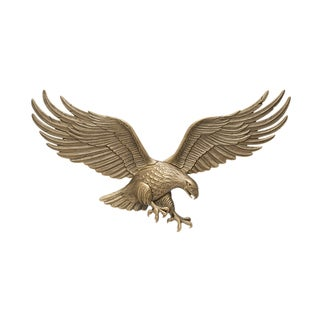 Whitehall Goldtone Antique Brass 36-inch Eagle Statue