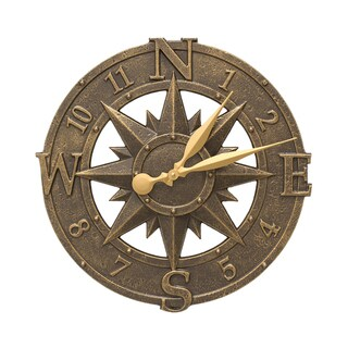 White Hall 16-inch Compass Rose Clock