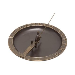 White Hall Fisherboy French Bronze Aluminum Sundial Birdbath
