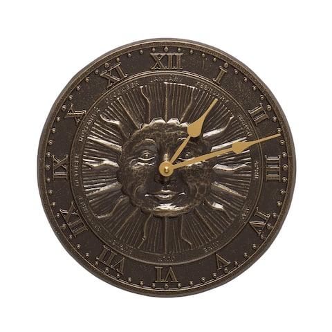 White Hall French Bronze Finish Aluminum Sunface Clock