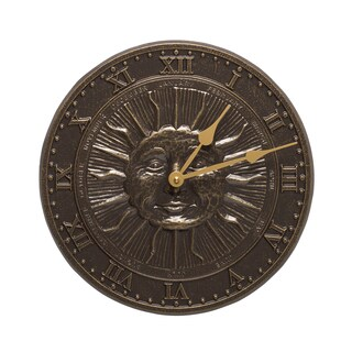 White Hall French Bronze Finish Aluminum Sunface Clock