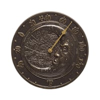 Whitehall French Bronze Moon Thermometer