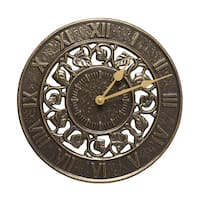 White Hall Ivy Silhouette French Bronze Clock
