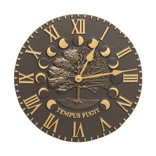 Whitehall Brown Aluminum Bronze Times and Seasons Clock