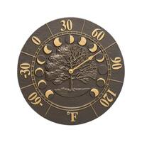 White Hall Times and Seasons French Bronze Aluminum Thermometer